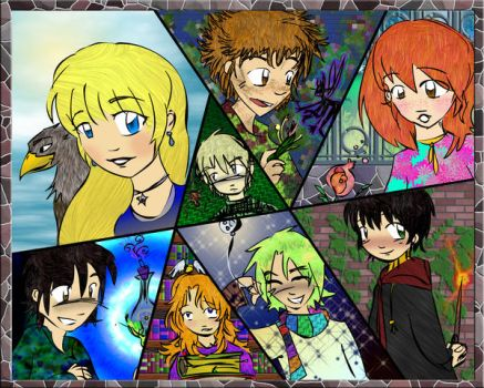All Eight colored by Slytherin-Mongoose