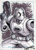 Atomic Robo Sketchcard by stratosmacca