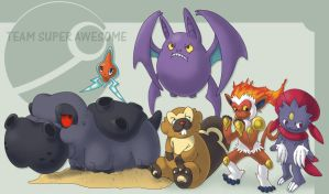 My super awesome Pokemon team