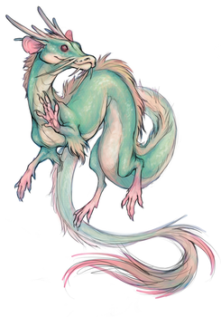 Smol Dragon Rat Snek critter by oomizuao