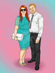 Rachael and Dan Commission 2 by konfusion-with-a-k
