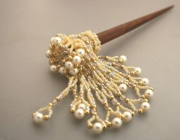 Hair pick with pearls by EskimoScrybe