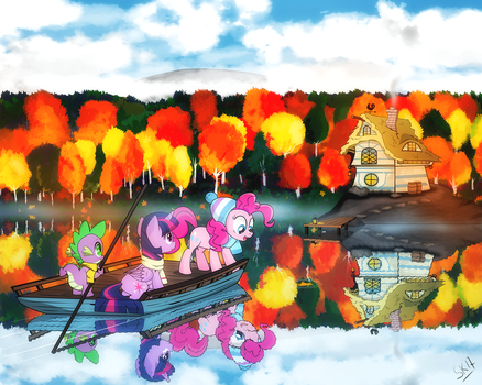 [Commission] Reflections in the Water by dSana