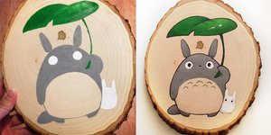 Totoro Plaque by leahmsmith