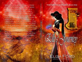 YA Fantasy Full Book Cover Jacket Elle's Journey by Dafeenah