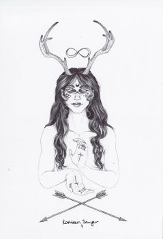 Deer Goddess by KatSaw