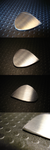 Stainless Steel Guitar Pick by DaveLuck