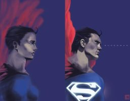 Superman 2015 vs 2017 by claudiall