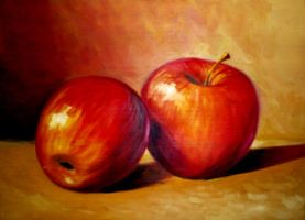 Study of Red Apples by ColomoArt