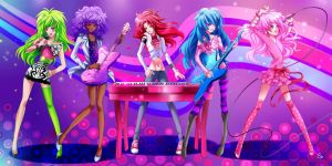 JEM AND THE HOLOGRAMS. by KagomesArrow77
