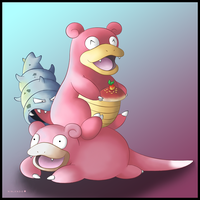 Slowpoke and Slowbro