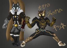 Canine Combo and Canine Greeed by KamenRiderPegasus