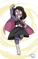 Superhero Girl by CPTBee