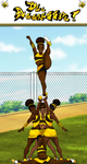 Chocolate Honey Bee Cheerleaders by DjDontTouchTheTrim
