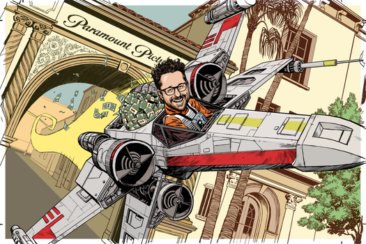 JJ in an X-Wing by Laemeur