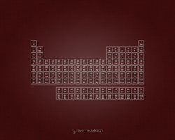 Periodic Table Denim Wallpaper in Red by averywebdesign