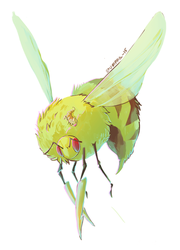 Fluffy Drilly Bee by Stumppa