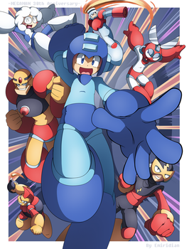 Megaman 30th Anniversary! by Emiridian