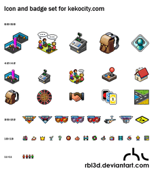Pixel Icons for Kekocity by rbl3d