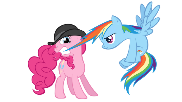 Pinkie Pie and Rainbow Dash by AB-Anarchy