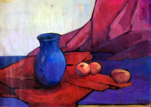 Still life with apples by Caromatic