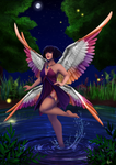 Pond Faerie by Hjemi
