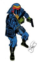 Redesign Juiz Dredd by sanmarcelo