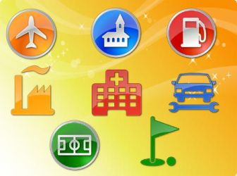 POI Vector Icons by freevectordownload