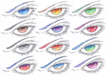Eye Colour Reference/Tutorial by AthenrilTheThief