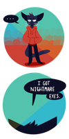 Nightmare Eyes by DlNOSAUR