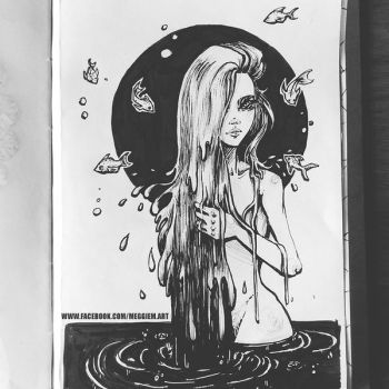 Inktober Day 11 Element Witch by Meggie-M