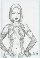 Cortana Sketch Card by Nortedesigns