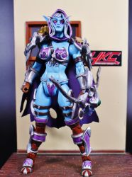 Custom MOTUC Sylvanas Windrunner action figure HKC by hunterknightcustoms