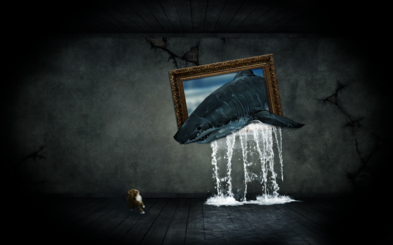 sharks frame wallpaper by Niissi