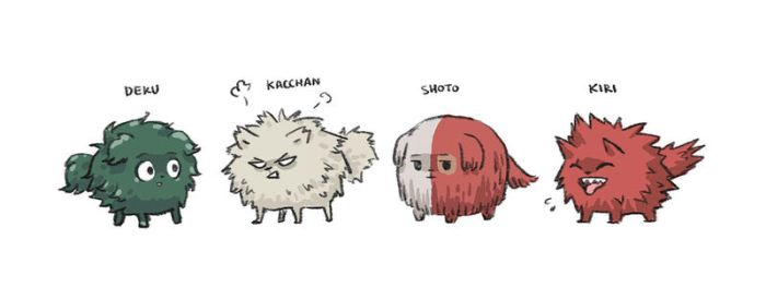 Hero Puppies - My Hero Academia by minibuddy