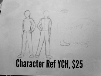Human/Humanoid/Anthro Furry Ref Sheet YCH by Dodgesmiley