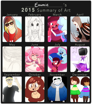 emmie's 2015 summary of art by curious-emmie