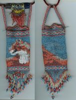 cougar beaded pouch by Refiner