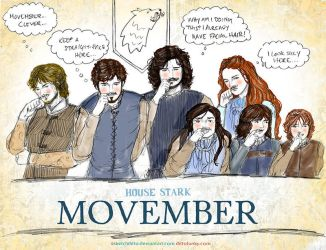 a Winterfell Movember by sketchditto