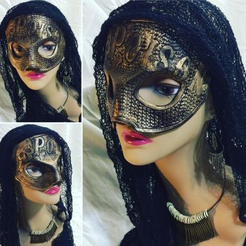 Gold Poison Leather Mask by aGrimmDesign