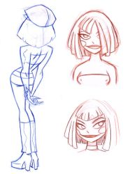 Dee Model Sheet by Nes44Nes