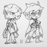 Sorey + Mikleo (Black and White Version) by CassidyLeora