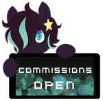 CM -  Lunar Arrow Commissions Open Stamp by BlueBismuth
