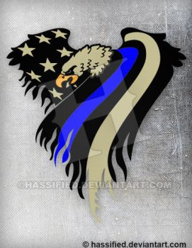 Law Enforcement Eagle Flag by hassified
