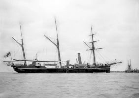 HMS Sparrow 1889 renamed NZS Amokura 1906 copy by lichtie