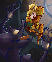 Samus vs Ridley by Anaugi