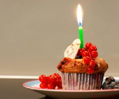 Chocolate Berry Birthday Muffins by Cailleanne