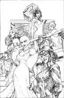 Uncanny X-Men 504 Cover Pencil by TerryDodson