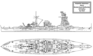 Modernised IJN Settsu by Tzoli