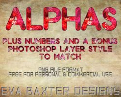 EVA BAXTER DESIGNS--FREEBIE SCRAPS-ALPHAS by EvaTakesNoPrisoners
